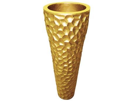 """Vase """"Gold"""" en fibre couleur or H 78.5cm"""