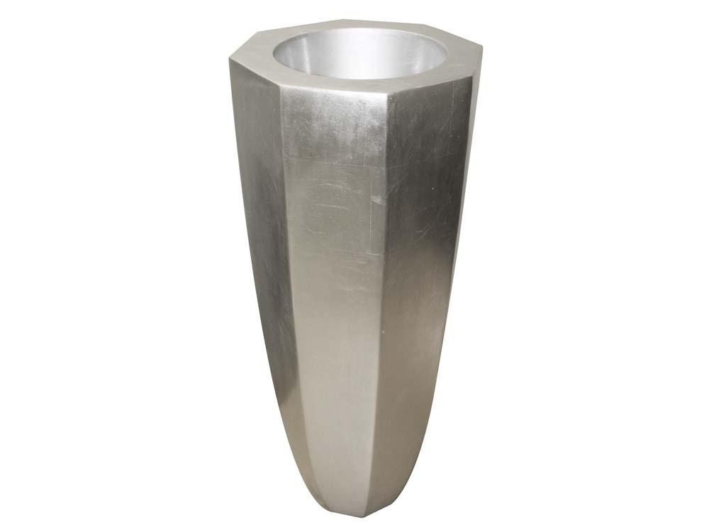 vase h siode en fibre couleur argent 53768. Black Bedroom Furniture Sets. Home Design Ideas