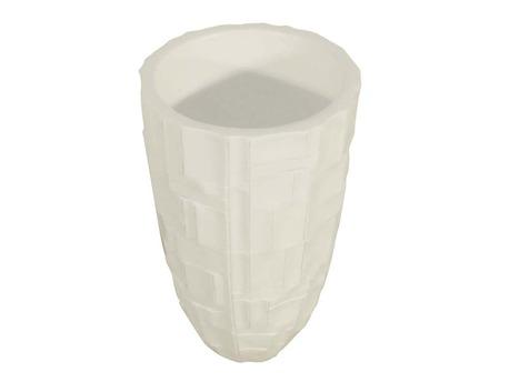 """Vase """"Platon"""" en FRP couleur blanc H 60cm"""