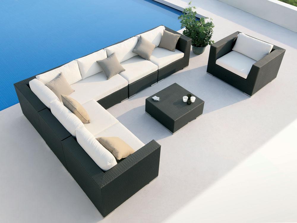 salon de jardin pullman 2 canap s 1 canap d 39 angle 1 fauteuil 1 table basse 55316. Black Bedroom Furniture Sets. Home Design Ideas