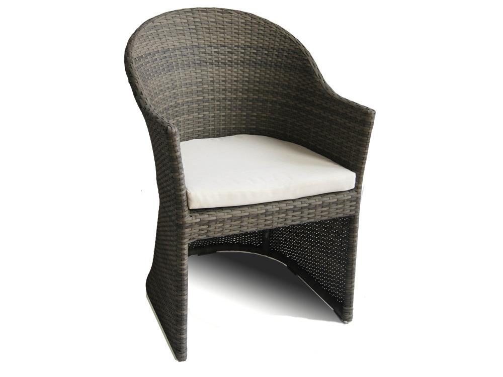 Lot de 2 fauteuils jardin Vulcano - Résine tressée - Avec coussins