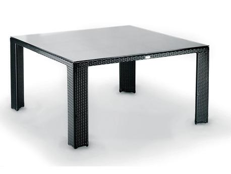 """Table de jardin """"Lounge"""" 8 couverts - résine tressée - 140 x140"""