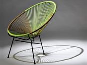 """Lot de 2 fauteuils de jardin """"Ovaly"""" - Vert/doré"""