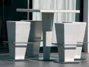 """Ensemble bar """"Fusyon"""" blanc - 4 sièges"""