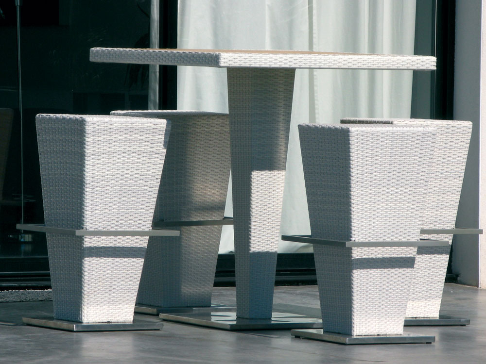 Ensemble bar Fusyon blanc - 4 sièges