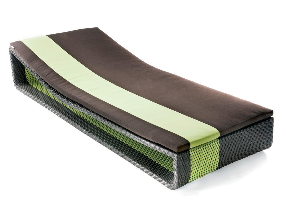 Bain de soleil Summertime bed - Chocolat/anis
