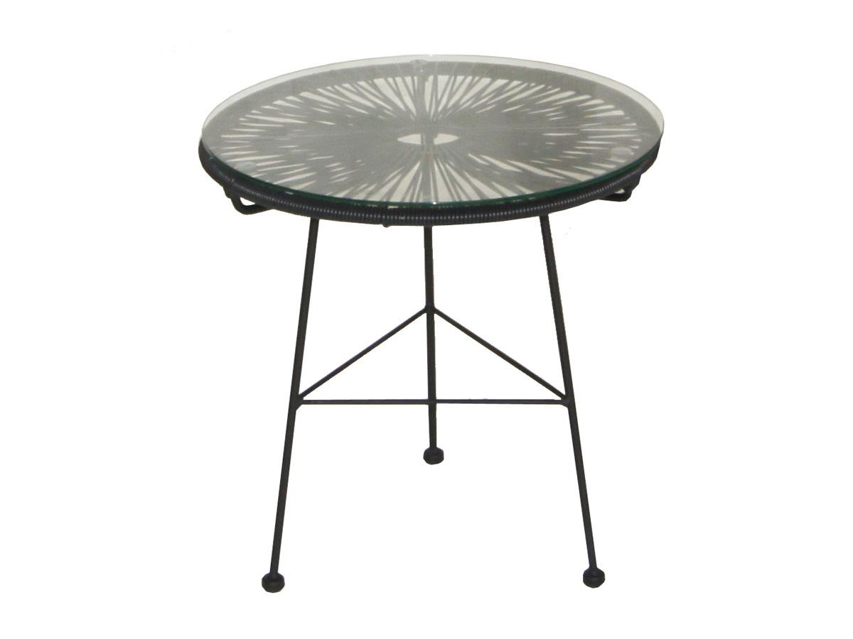 Table de jardin noire Ovaly