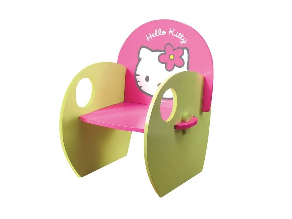 Bureau enfant hello kitty coiffeuse avec tabouret enfant en laqu