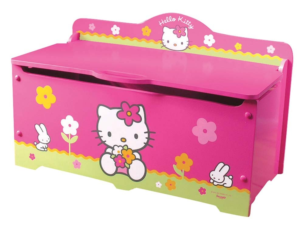 coffre jouets grand mod le enfant en laqu hello kitty rose et vert 53503. Black Bedroom Furniture Sets. Home Design Ideas