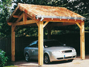 Garage bois - 15 m² - 5.00 x 3.00 x 3.75 m