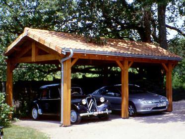 Garage bois for Garage en bois pour 2 voitures