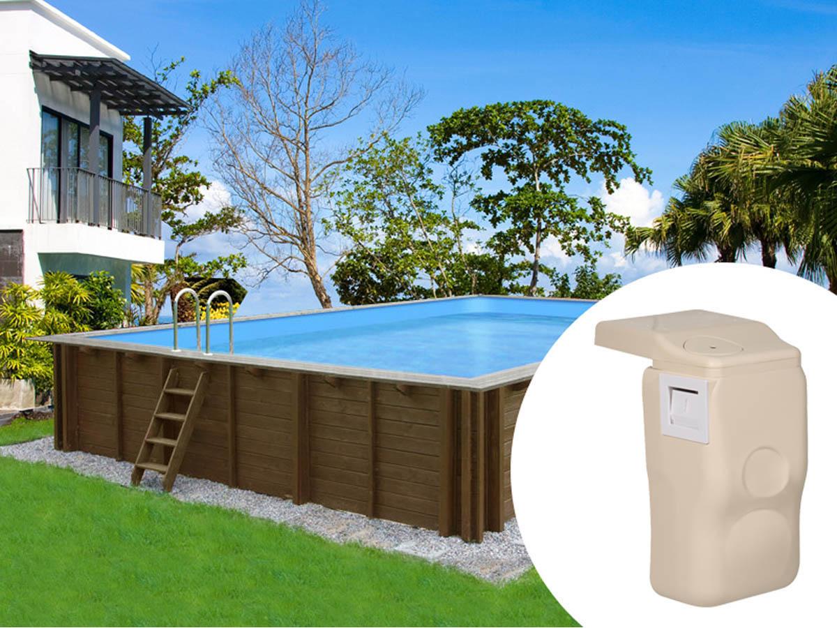 piscine bois filtration hors bord