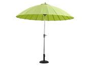 "Parasol jardin droit Alu ""Lili""- Style japonais - Ø2.7m - Vert anis"
