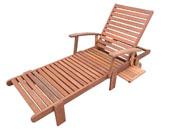 """Bain de soleil pliant en bois exotique """"Tokyo"""" - Maple - Marron clair"""