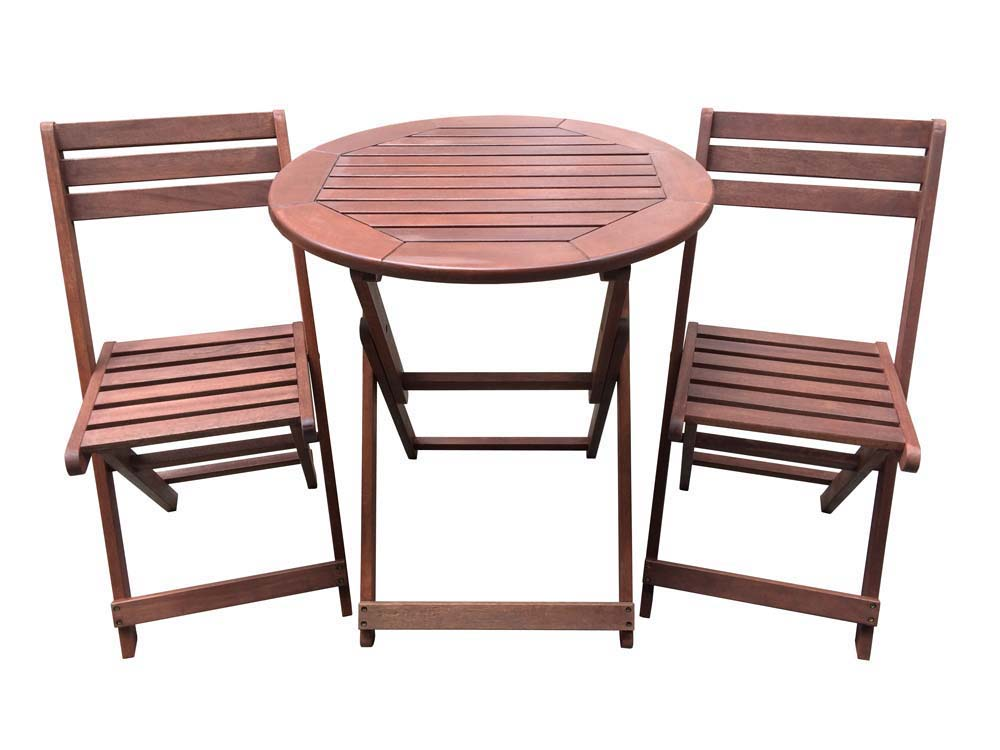 Salon de jardin en bois exotique sydney mahogany for Table salon de jardin pliante