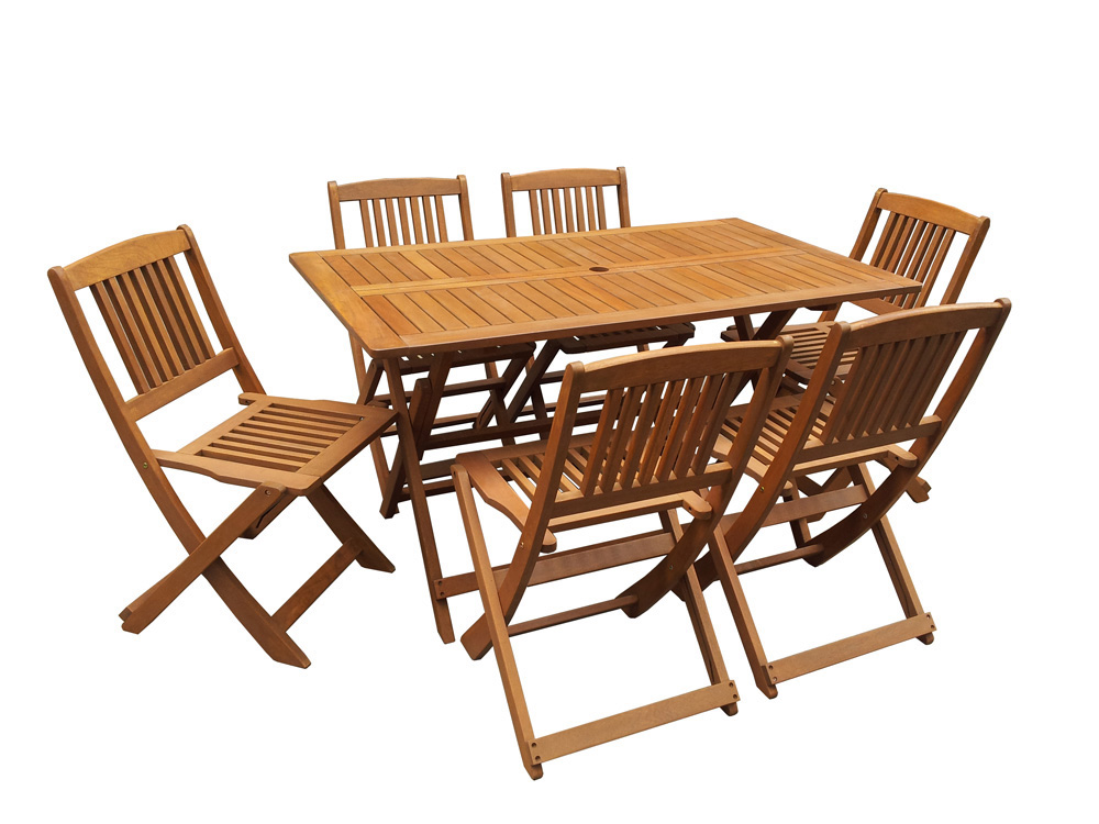 Casa salon de jardin bois for Table de jardin pliante