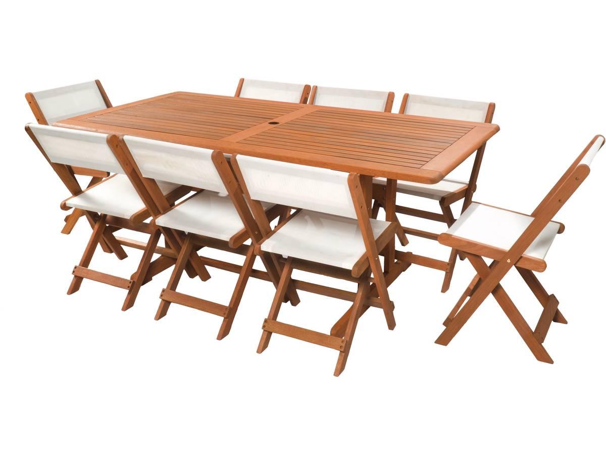 salon de jardin repas s oul 1 table 8 chaises maple beige 94266. Black Bedroom Furniture Sets. Home Design Ideas