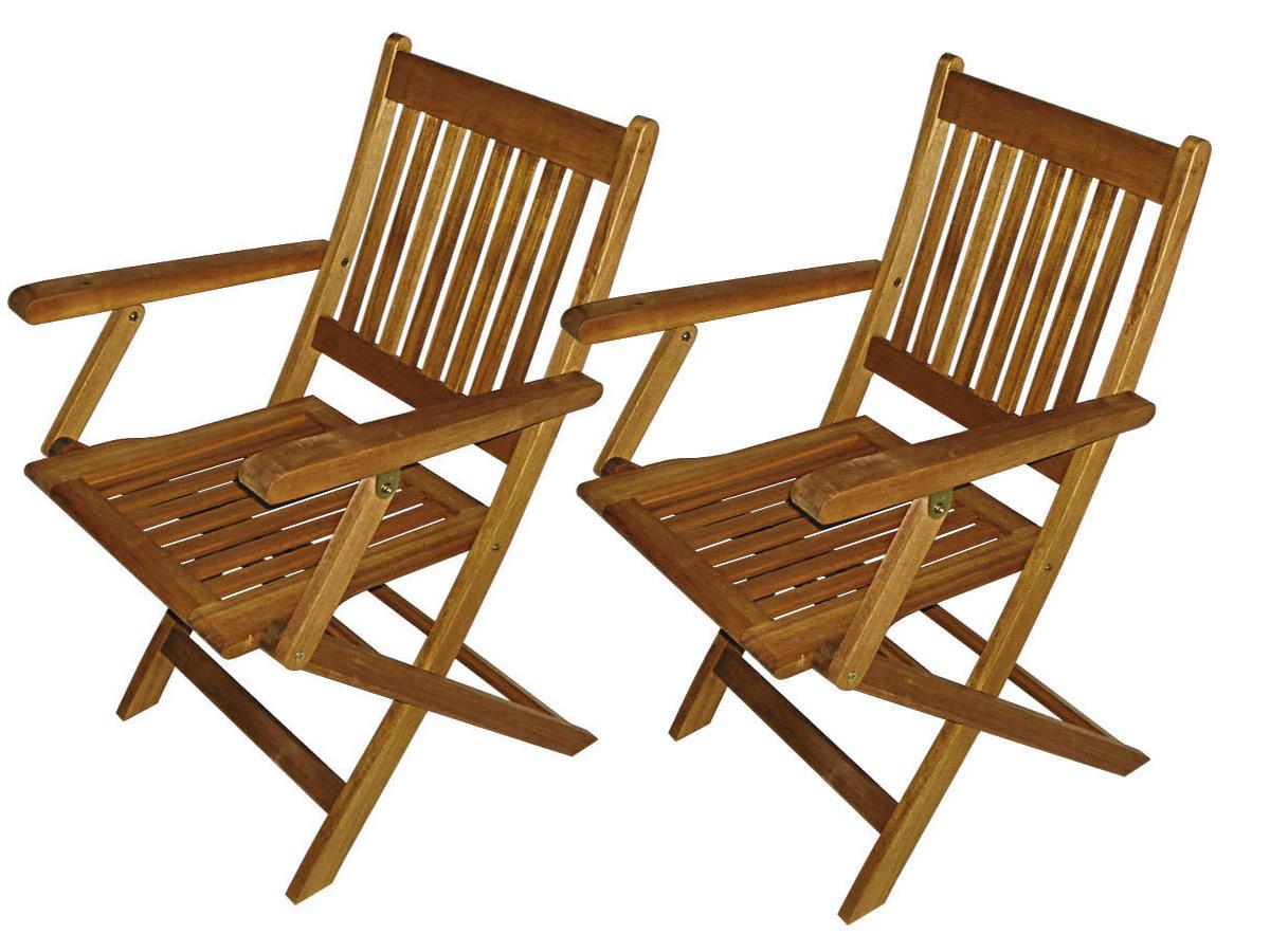 lot de 2 fauteuils pliants de jardin 68272. Black Bedroom Furniture Sets. Home Design Ideas