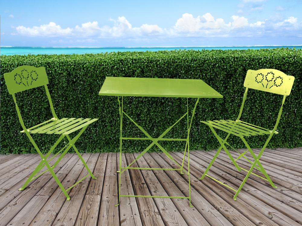 salon de jardin romantic m tal 1 table et 2 chaises 54411 54413. Black Bedroom Furniture Sets. Home Design Ideas