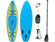 "Paddle ""Blue water 1"" - 76 x 275 cm - Bleu/Jaune"