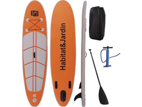 "Paddle ""Sup wave A4"" - 305 x 76 x 10 cm - Orange"