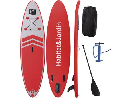 "Paddle ""Sup wave A3"" - 305 x 75 x 10 cm - Rouge"