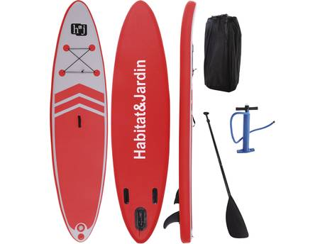 """Paddle """"Sup wave AX3"""" - 335 x 80 x 10 cm - Rouge"""