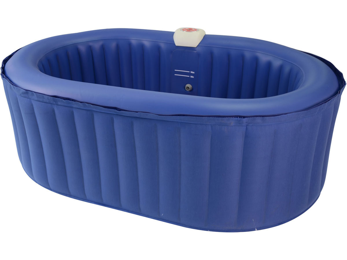 Spa Gonflable Ovale En Pvc 2 Places Bleu 93091
