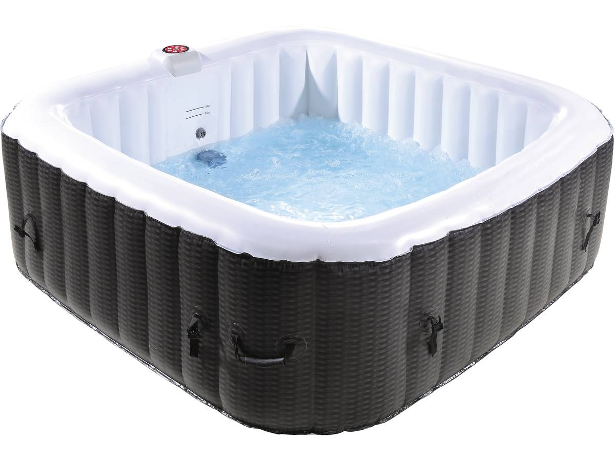 Spa Gonflable Nice En Pvc 6 Places Marroncrème 93649