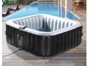 Spa Gonflable NICE en PVC - 6 places - Gris/Noir