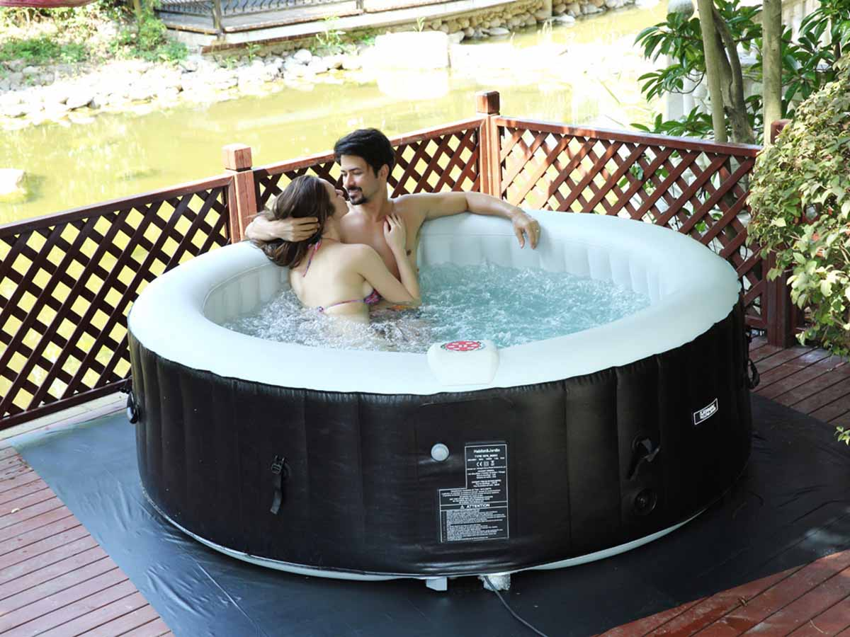 spa gonflable saint tropez en pvc 6 places noi 86862. Black Bedroom Furniture Sets. Home Design Ideas