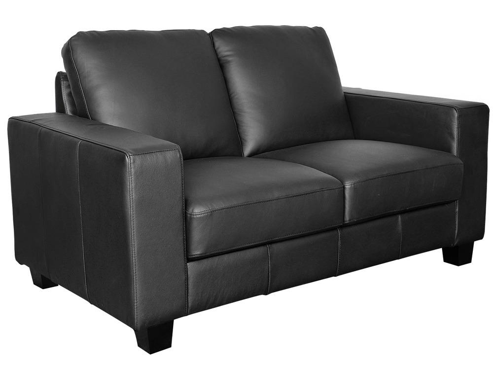 Canap cuir de vachette mok 2 places noir 53823 - Canape cuir de vachette ...
