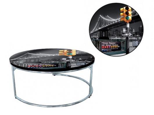 table basse new york bridge en mdf 54366. Black Bedroom Furniture Sets. Home Design Ideas