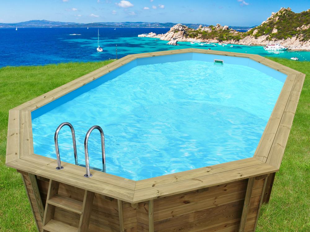 piscine bois palma - 7.57 x 4.07 x 1.31 m