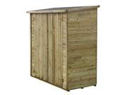 Abri jardin bois adossable  Lipki   - 1.79 x 0.90 x 1.76/1.86 m  - 1.62 m² - 12 mm - Avec plancher
