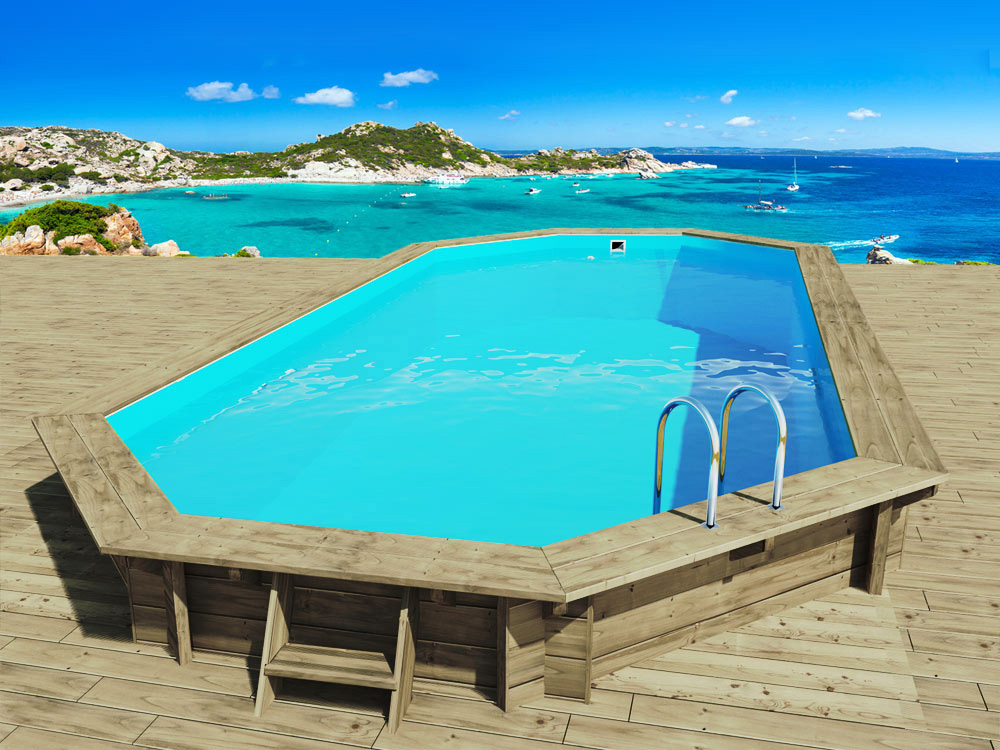 Piscine bois ibiza x x m 66254 for Piscine demontable bois