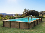 Piscine bois en kit rectangle
