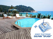 "Piscine bois  Venecia "" -  5.80 x 1.31m + Robot Dolphin""Splash"""