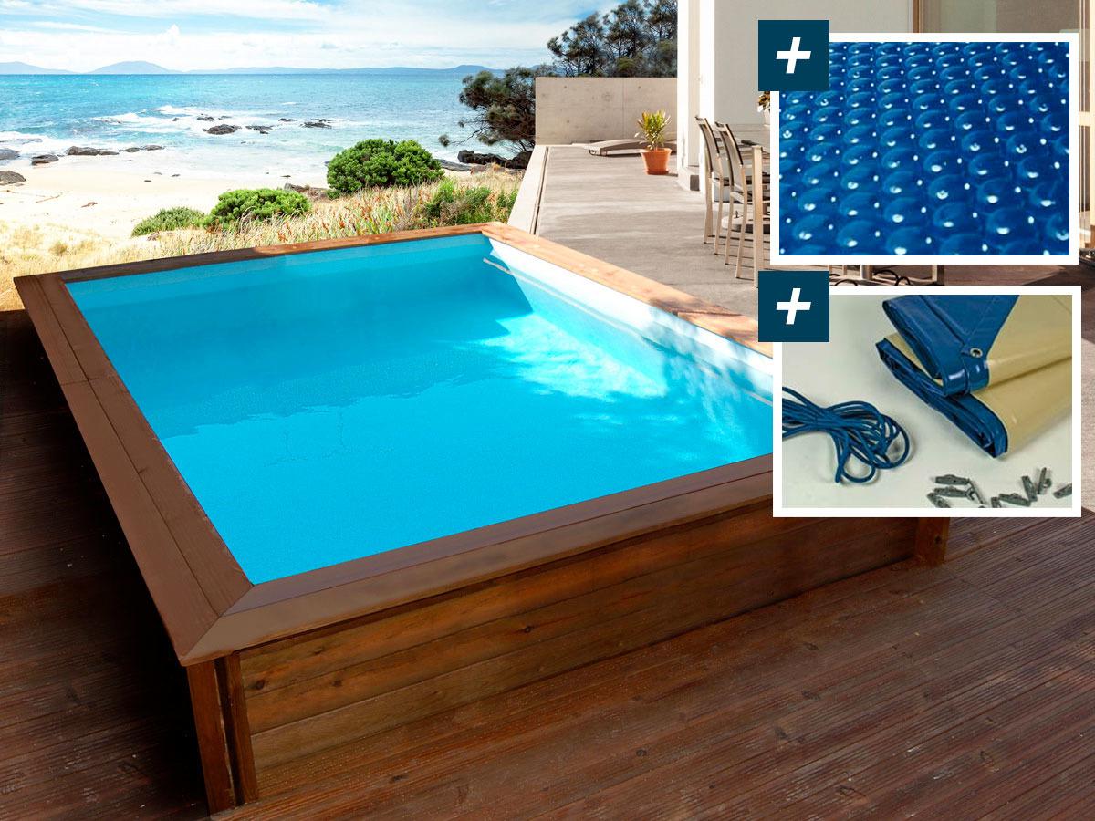 piscine bois rectangle toledo x x m. Black Bedroom Furniture Sets. Home Design Ideas