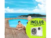 """Piscine bois """" Rio """" - 5.60 x 3.70 x 1.24 m + Pompe à chaleur réversible """"Simplicity by Hayward"""" ON/OFF - 5 kW - Blanc"""