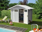 """Abri jardin """"Utility 4.9"""" - 4.90m² - 2,42 x 2,02 x 1.88 m - 26mm"""