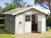 """Abri jardin """"Deco 7.5"""" - 7.5 m² - 3.15 x 2.39 x 1.88 m - 26 mm"""
