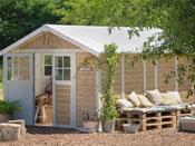 """Abri jardin """"Deco 11"""" Sherwood - 11m² - 3.15 x 3.55 x 1.88 m - 26 mm"""