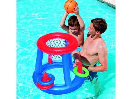 Jeux de boue affordable gonflable sable plateau en for Plateau piscine flottant