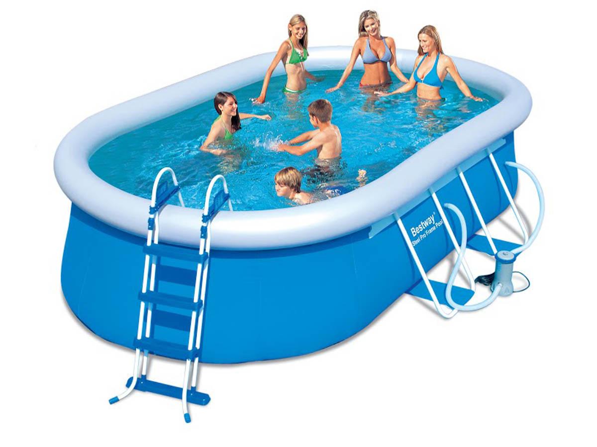 piscine autoportante ovale 15 m2 x x m 78788. Black Bedroom Furniture Sets. Home Design Ideas