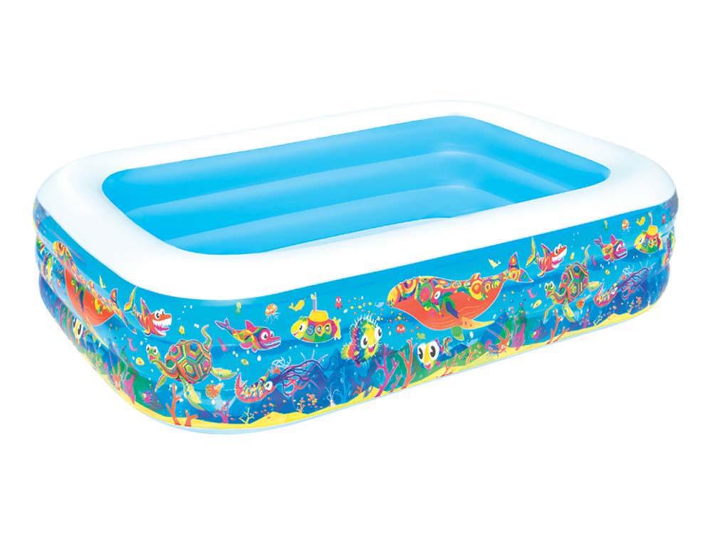 piscine rectangulaire deluxe d cor poissons x x m 66367. Black Bedroom Furniture Sets. Home Design Ideas