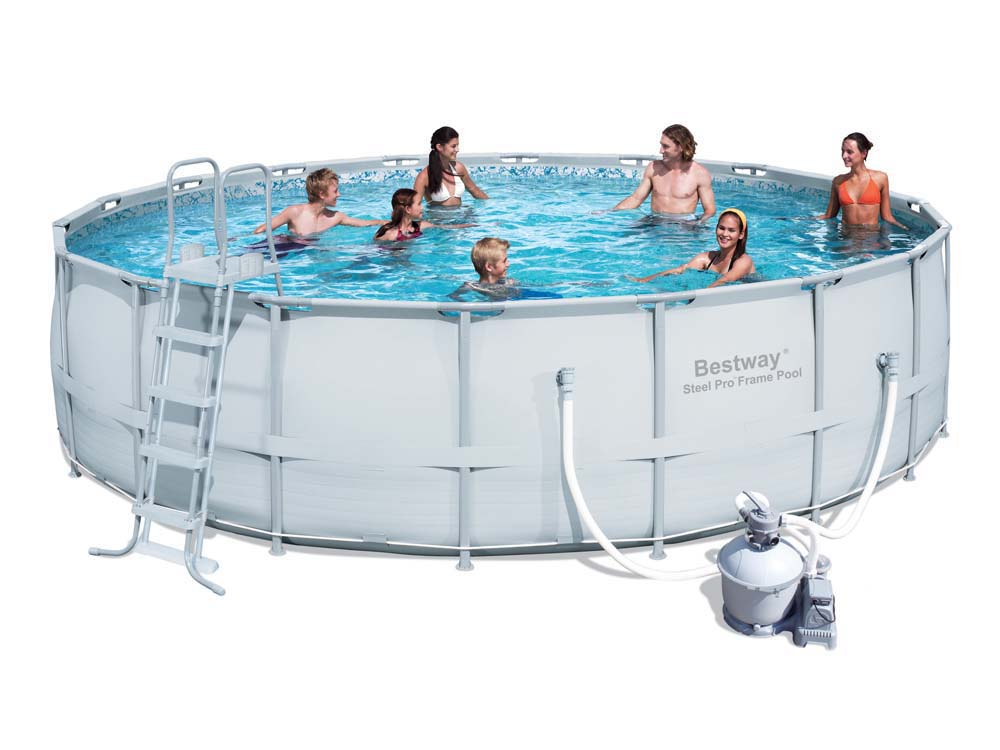 Piscine tubulaire ronde x m 78775 for Pompe pour piscine bestway