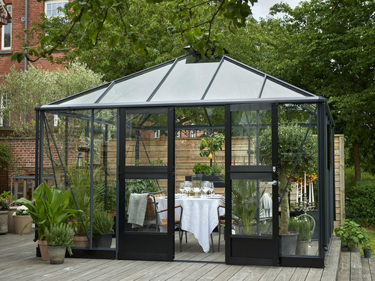 serre verre oasis 13 5 m 3 68 x 3 68 x 3 07 m 81993. Black Bedroom Furniture Sets. Home Design Ideas