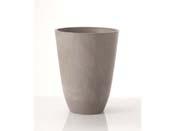 """Pot rond """"Pérou"""" Ø 39 ×46 cm. - Gris"""