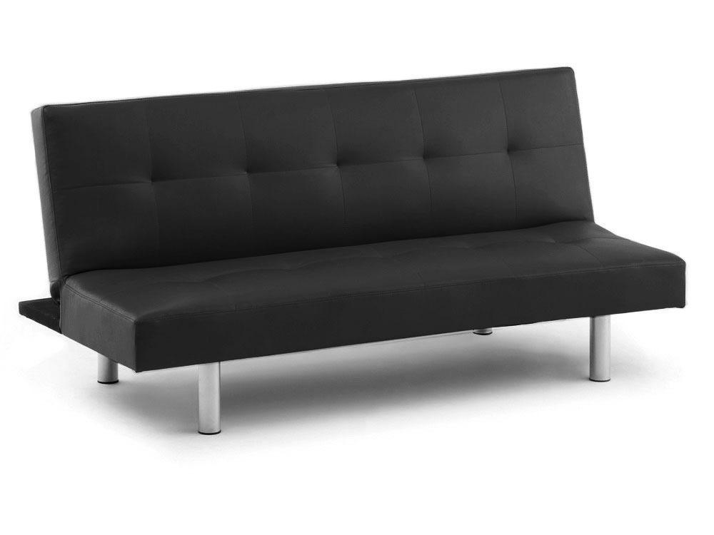 canap clic clac jacky 3 places noir 56756. Black Bedroom Furniture Sets. Home Design Ideas